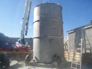 工場メンテナンス タンク設置