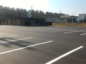 舗装工事 舗装 飲食店駐車場